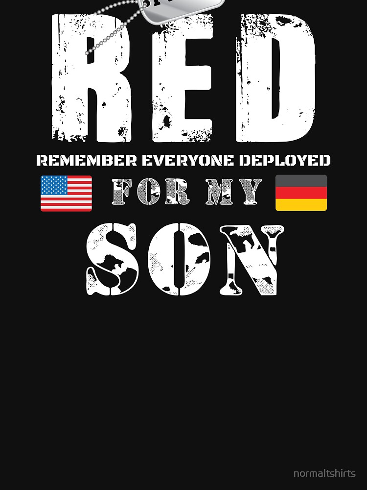 Wear RED Fridays Military Shirt Proud Son Deployed in Germany by normaltshirts