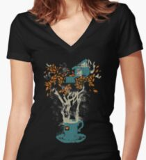 Teehaus Shirt mit V-Ausschnitt
