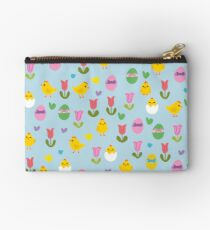 Easter - chick and tulips pattern Studio Pouch