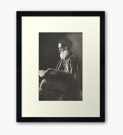 Reading the Talmuth Framed Print