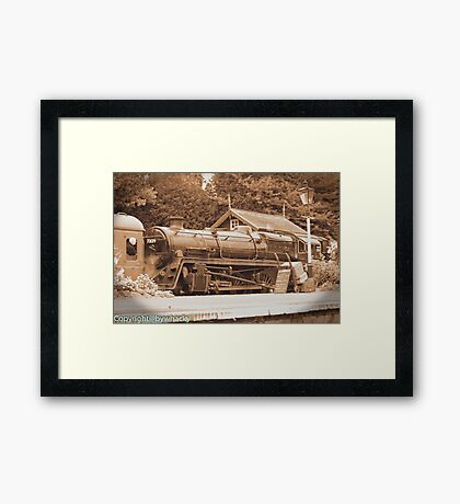 Steam past and present  Framed Print