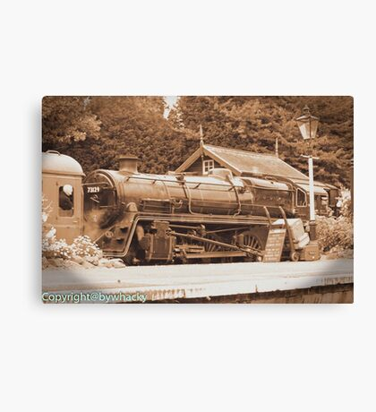 Steam past and present  Canvas Print