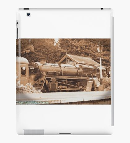 Steam past and present  iPad Case/Skin
