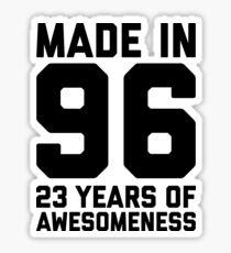 23rd Birthday Gift Adult Age 23 Year Old Men Women Son Daughter Sticker
