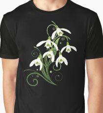 Schneeglöckchen Frühling Blumen Spring Flowers Grafik T-Shirt