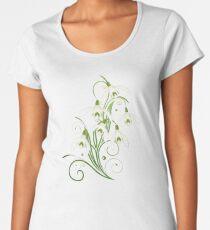 Schneeglöckchen Frühling Blumen Spring Flowers Frauen Premium T-Shirts