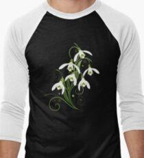 Schneeglöckchen Frühling Blumen Spring Flowers Baseballshirt für Männer