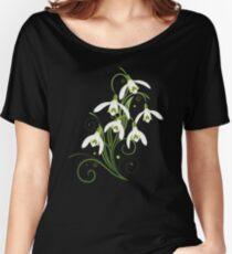 Schneeglöckchen Frühling Blumen Spring Flowers Baggyfit T-Shirt