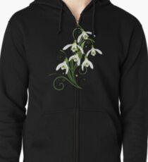 Schneeglöckchen Frühling Blumen Spring Flowers Hoodie mit Reißverschluss