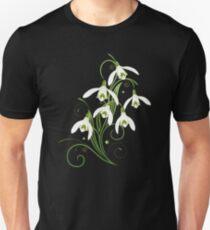 Schneeglöckchen Frühling Blumen Spring Flowers Unisex T-Shirt