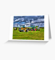 A Game of Tractor Chicken Greeting Card