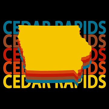 Cedar Rapids Iowa Souvenirs IA Repeat Retro Vintage by fuller-factory