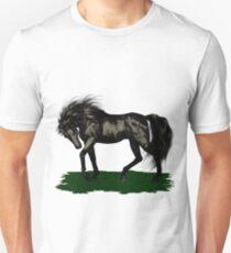 Ebony .. black stallion Unisex T-Shirt