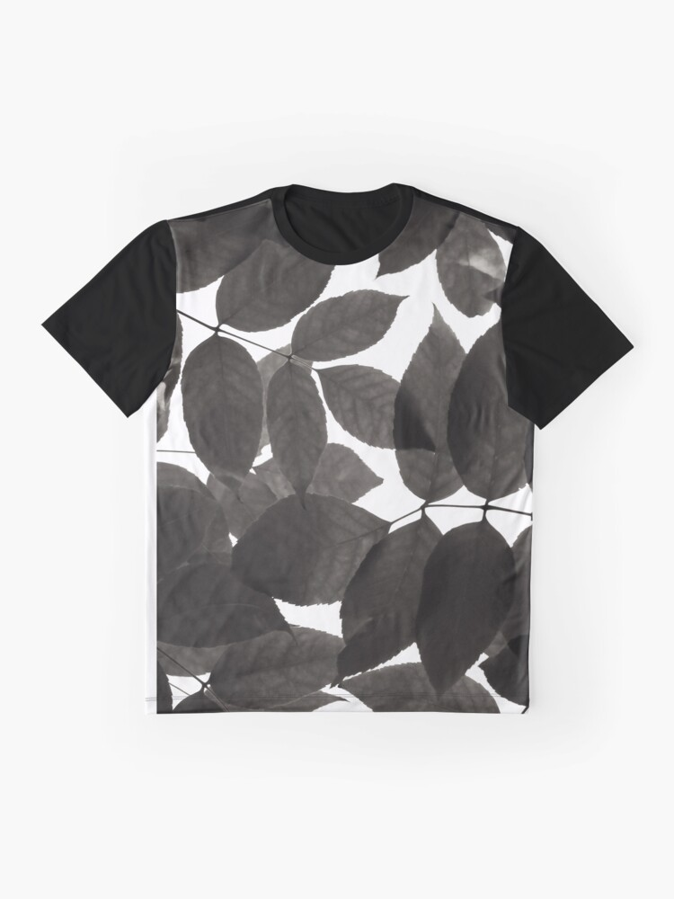 Alternate view of Black and White Natural Patterns Graphic T-Shirt