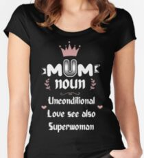 Funny Cute Mothers Day Gift A Mum Has Love Superpowers Tee Women's Fitted Scoop T-Shirt