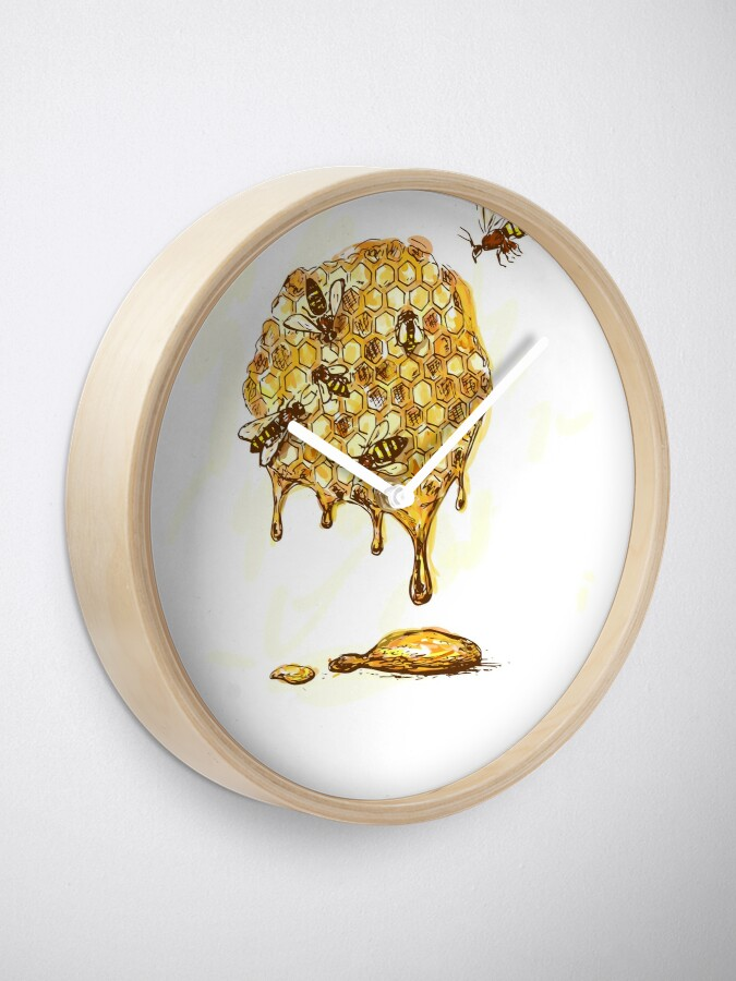 Alternate view of Honeycomb Clock
