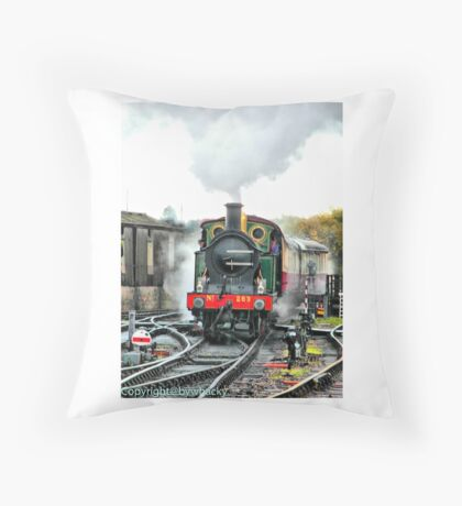 Engine 263 steaming Throw Pillow