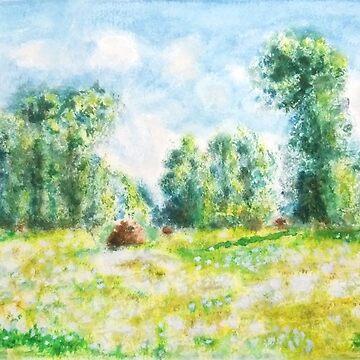 Primavera de los artes monetarios en la pintura de Giverny. de ColorandColor