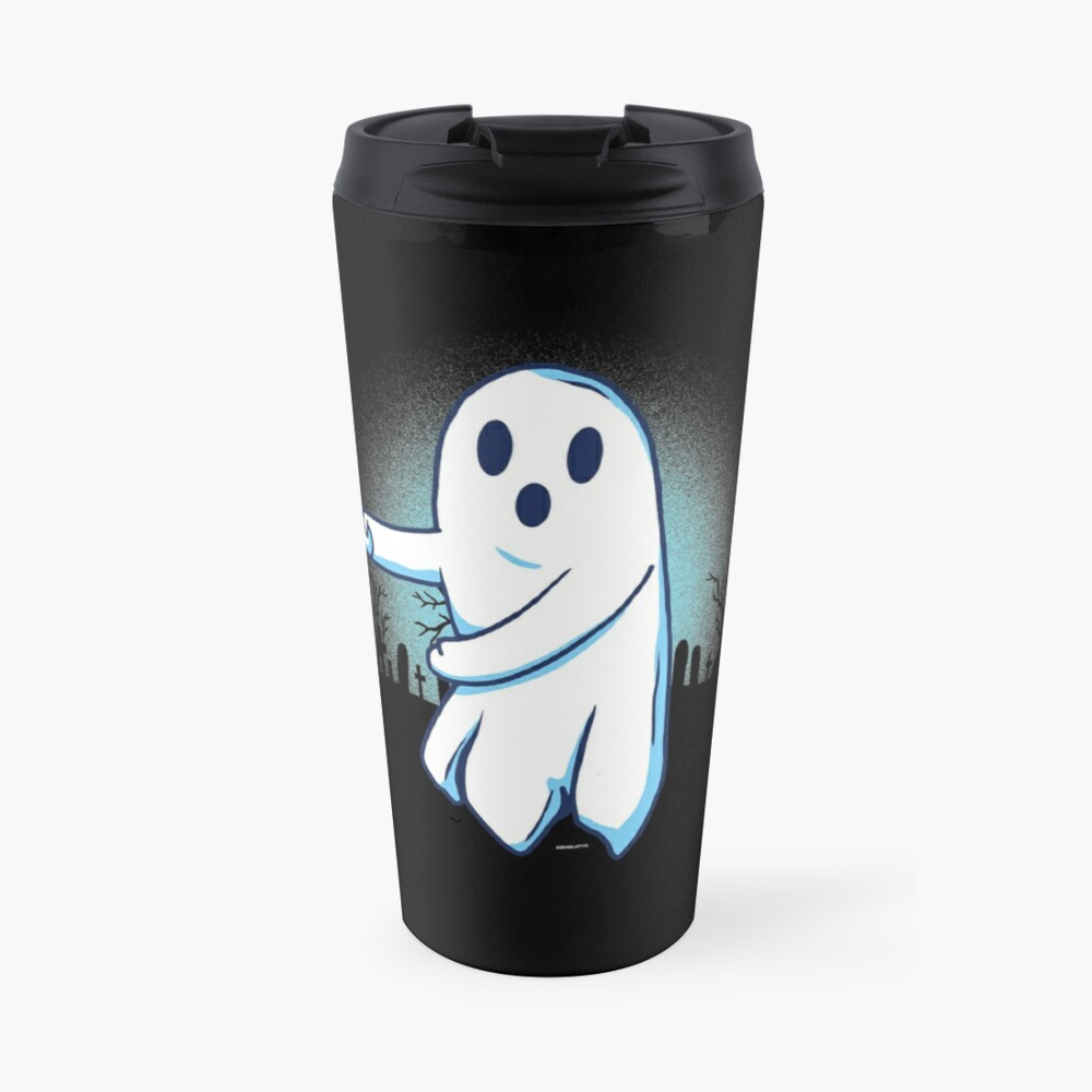 Ghost floss Halloween gift Thermobecher