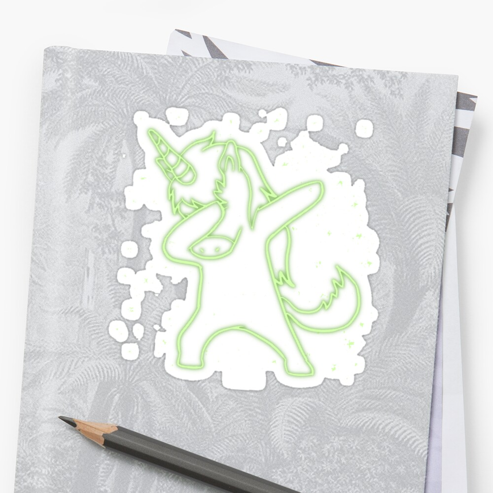 Xray dabbing unicorn Halloween gift Sticker