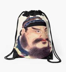 #portrait, #lid, #people, #adult, veil, beard, mustache, cap, one, illustration Drawstring Bag