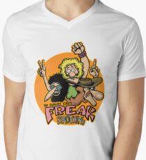 Camiseta de cuello en V Hermanos freak