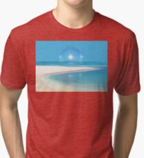 Postcard from Crane Bay in Barbados, Caribbean Tri-blend T-Shirt