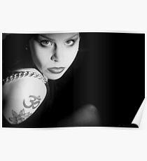 Marcina in Black Poster