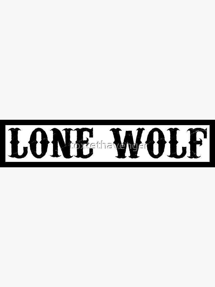 lone wolf by toxtethavenger
