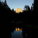 Half Dome and Merced River, Yosemite. by Jonathan Maddock