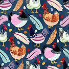 Trendy Chickens  by TigaTiga