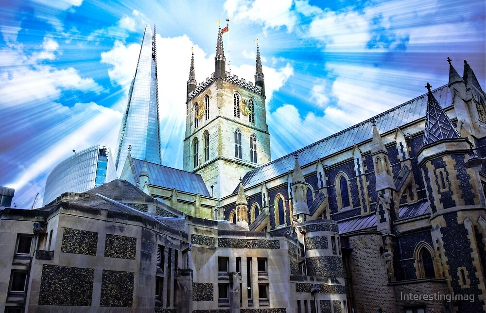 Come to the Light - The Shard over Southwark Cathedral-London by InterestingImag