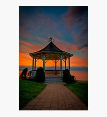 Gazebo at Sunset Photographic Print