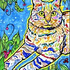 Floral Abstract Cat by Josie31