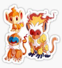 Sinnoh Projekt - Feuerstarter Trio Sticker