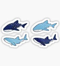 Starry Whale Sharks Sticker set Sticker