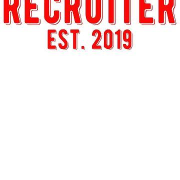 Sorority/Fraternity Recruiter Established 2019 Unisex T-Shirt by BiagioDeFranco
