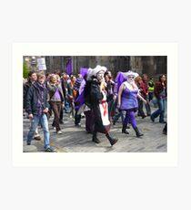 Purple Protest March Art Print