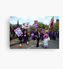 Purple People Edinburgh Rally: New Traffic Signals Ahead Canvas Print