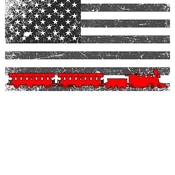 American Flag Model Train Collector  by BiagioDeFranco