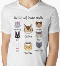 THE CATS OF STUDIO GHIBLI Men's V-Neck T-Shirt