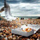 Fish and Chips mit Brighton Gulls von heidiannemorris