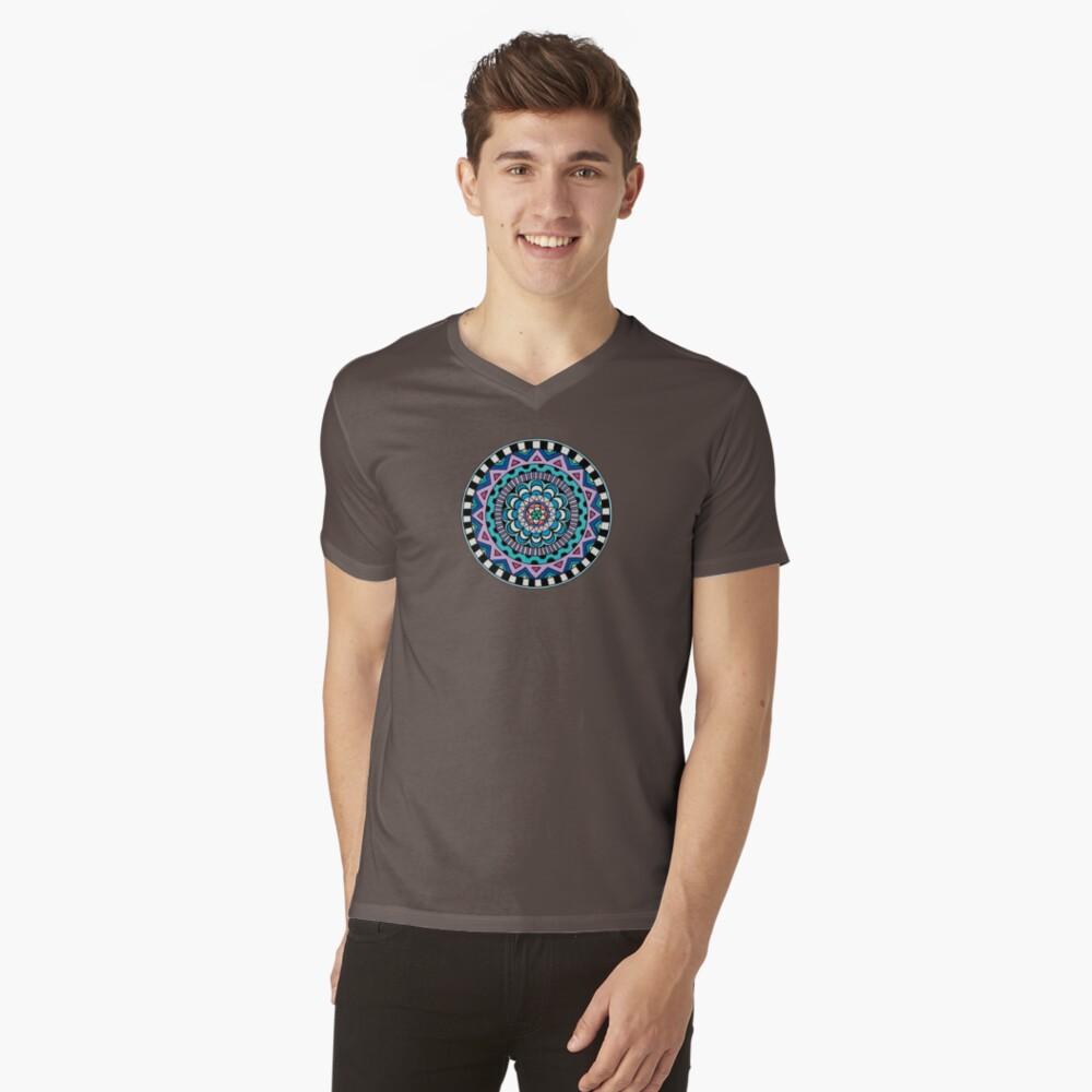Purple Mandala V-Neck T-Shirt
