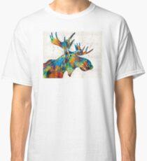 Colorful Moose Art - Confetti - By Sharon Cummings Classic T-Shirt