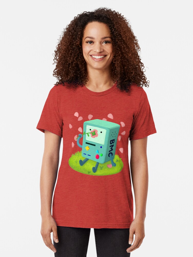 Alternate view of Flowers for BMO Tri-blend T-Shirt