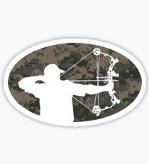 Pegatina Etiqueta engomada del cazador del arco (versión del camo)