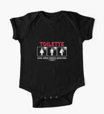 LGBT Toilette Egal aber Hände waschen Baby Body Kurzarm