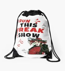 Freak Show Scene Out Shirt Power Clothes Flag Freakazoid Drawstring Bag