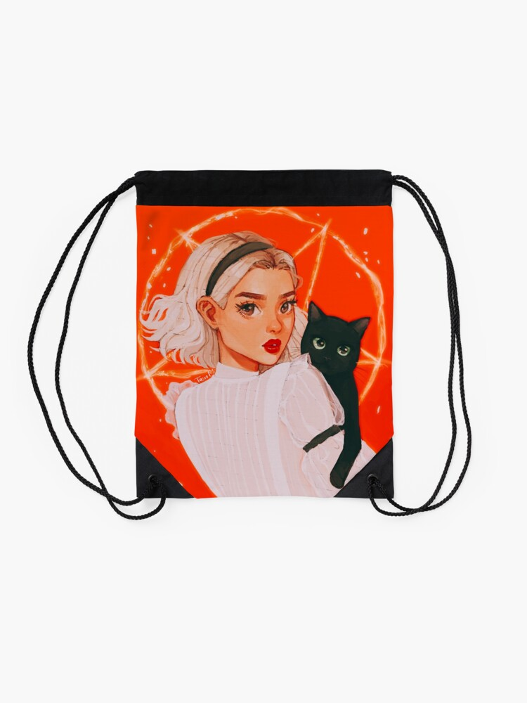 Alternate view of the teenage witch Drawstring Bag