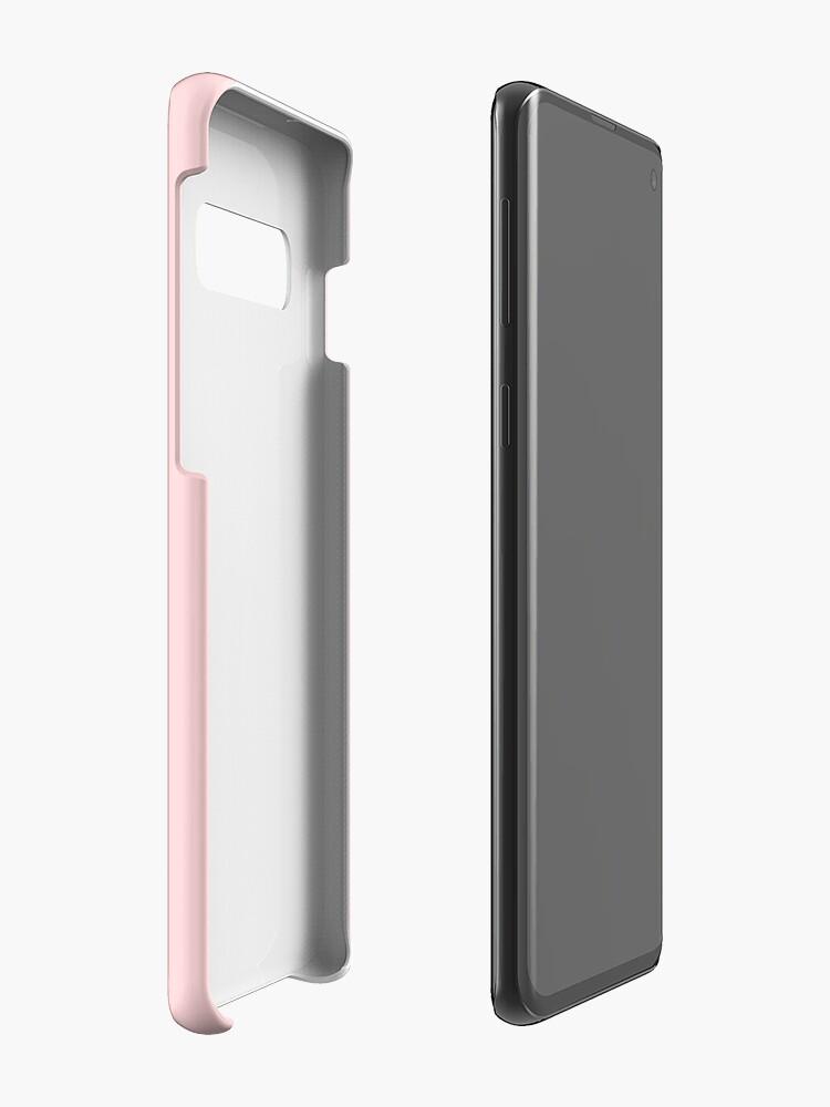 Alternate view of I Bite - Pixel Speech Bubble (Pink) Case & Skin for Samsung Galaxy